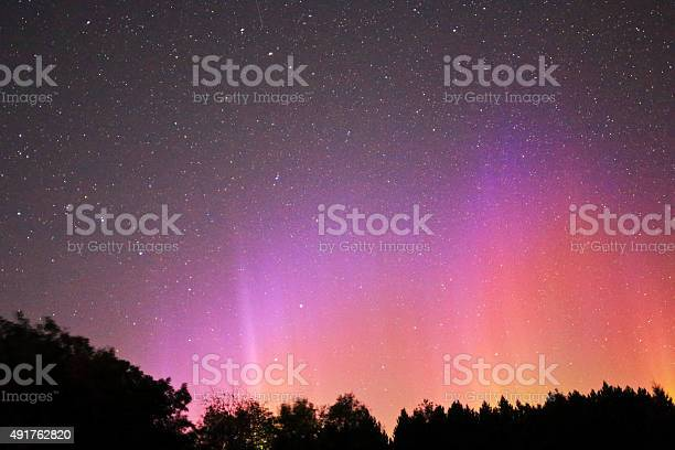 Photo of Northern Light in Pink Yellow Red