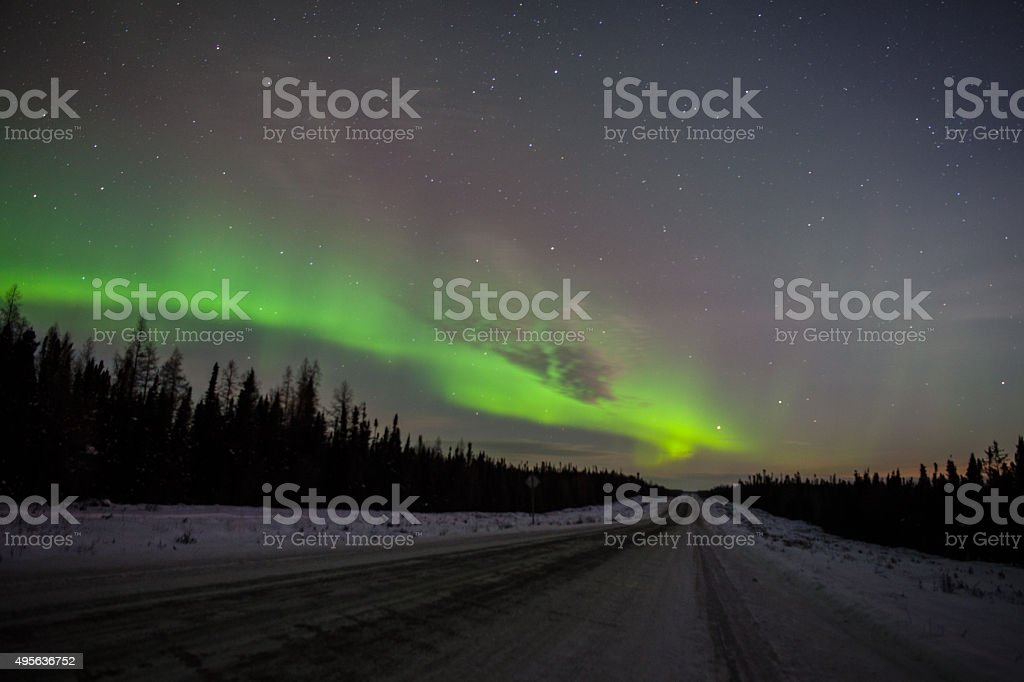 Northern Light in Thompson Manitoba Canada stock photo
