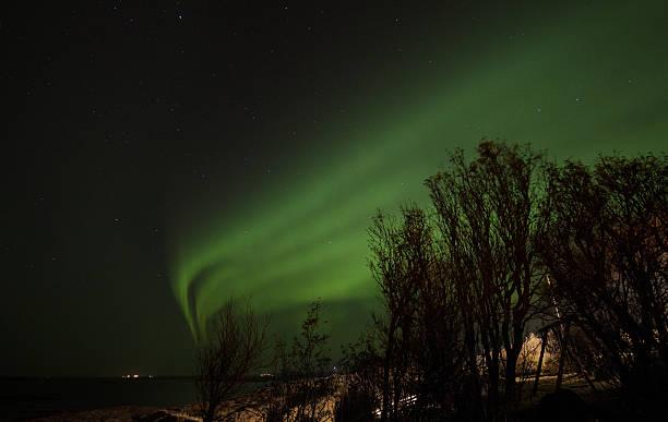 Northern light-Aurora Borealis stock photo