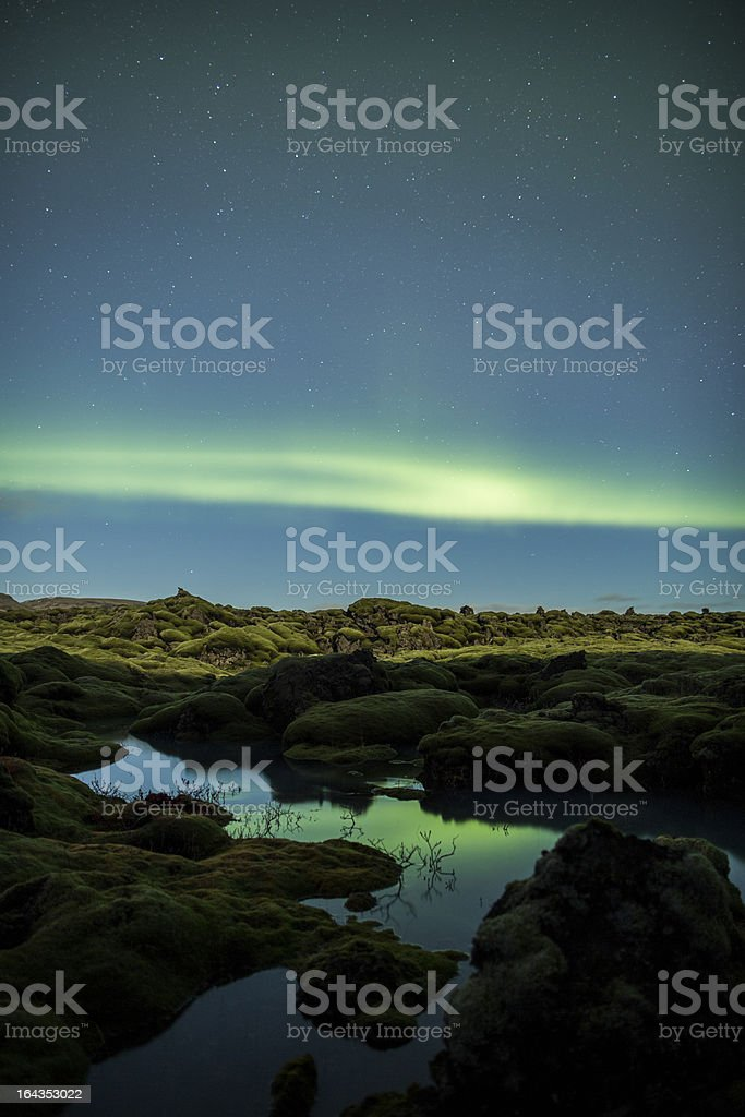Northern Lights above Iceland royalty-free stock photo