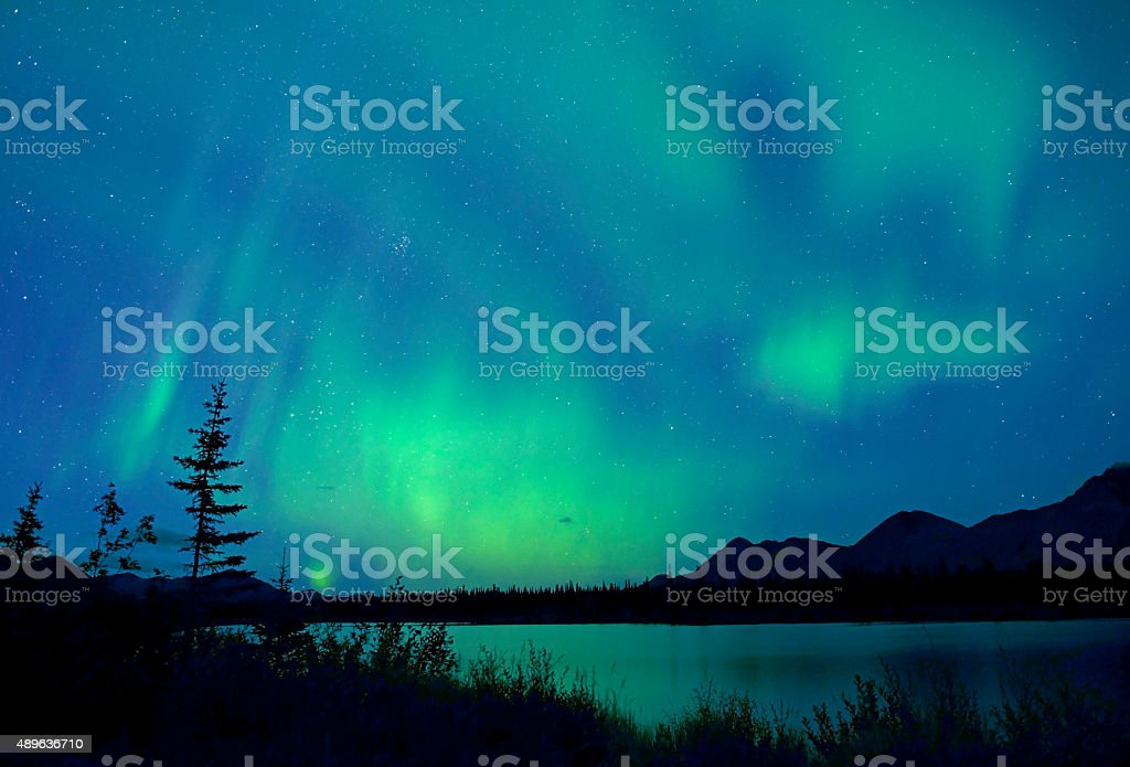 Northern Lights, Aurora Borealis, Alaska stock photo