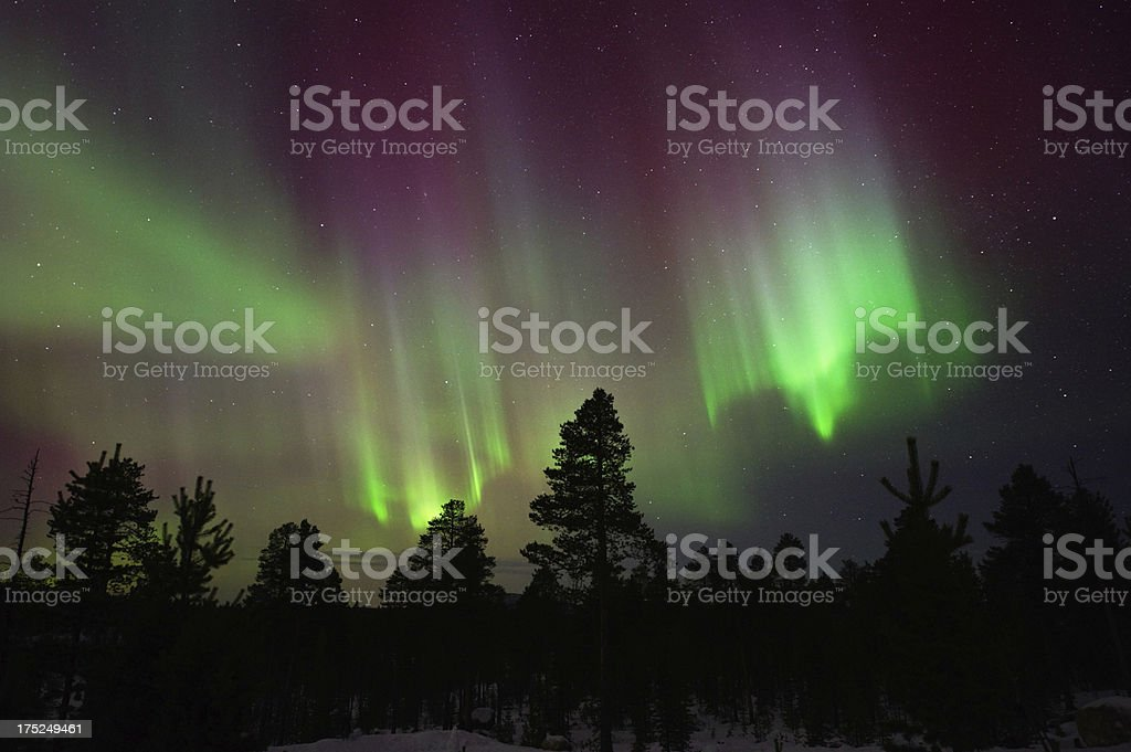 Northern Lights, Aurora Borealis stock photo