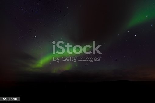 istock Northern Lights Dancing with Stars in Iceland 862172972