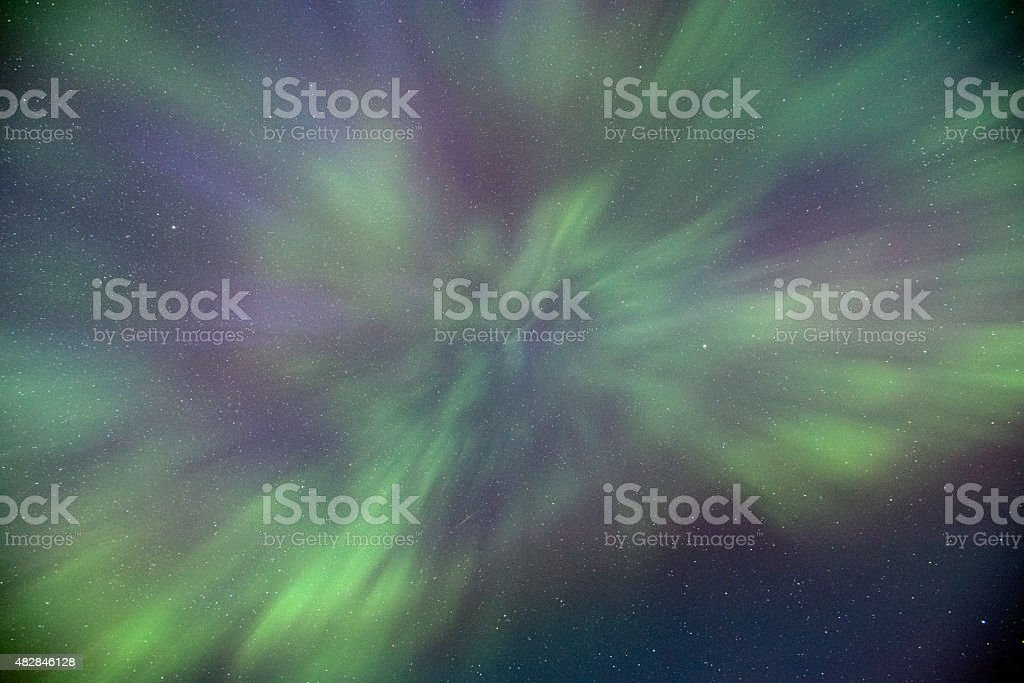 Northern Lights fill the sky stock photo