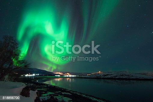 Northern Lights In Alta Norway Stok Fotoğraflar & Alta - Norveç'nin Daha Fazla Resimleri