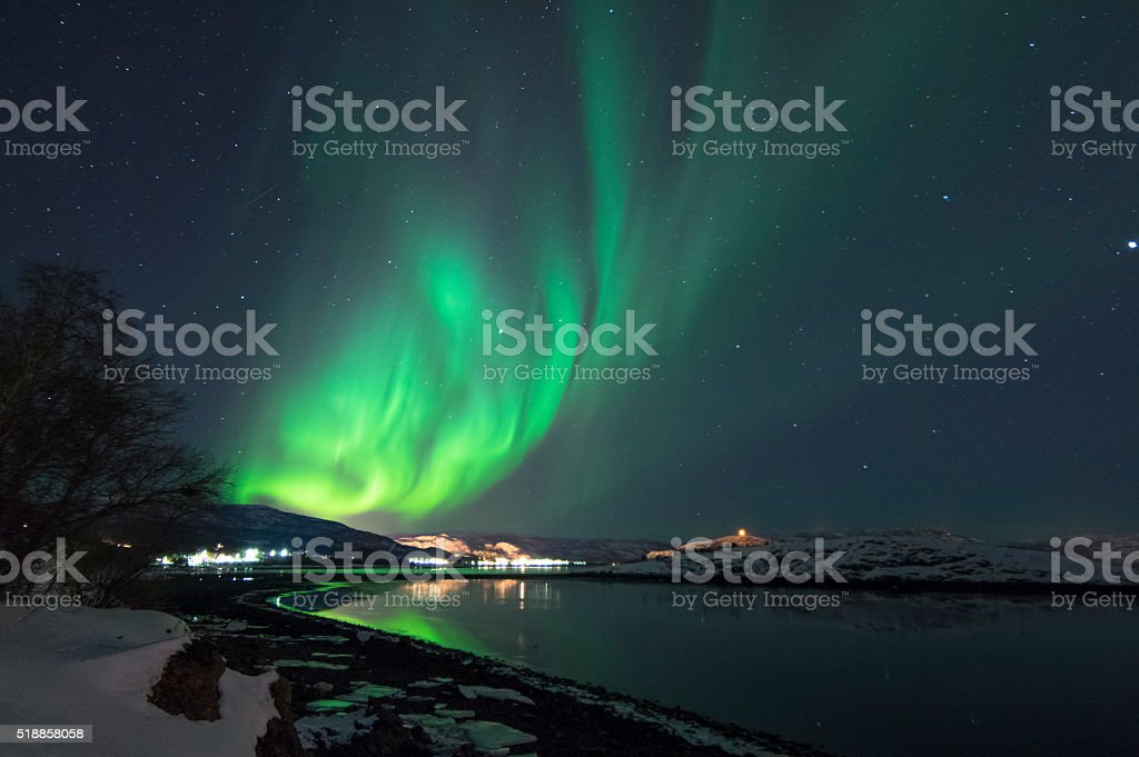 Northern Lights in Alta, Norway stok fotoğrafı