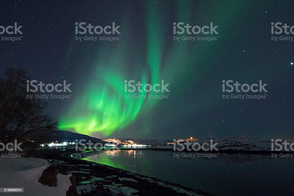 Northern Lights in Alta, Norway stok fotoğrafı