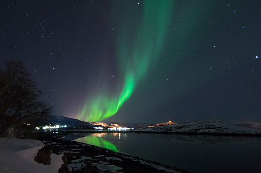 Northern Lights In Alta Norway Stock Photo - Download Image Now