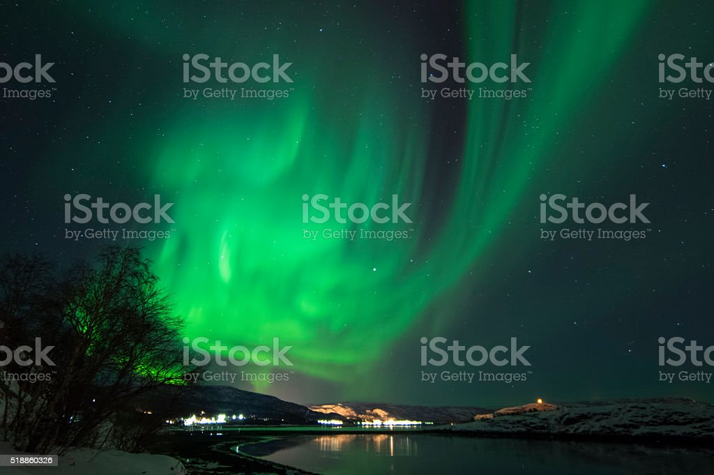 Northern Lights in Alta, Norway - Royalty-free Alta - Norway Stock Photo