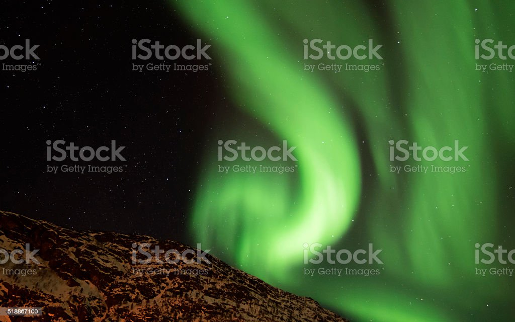 Northern Lights in Alta, Norway royalty-free stock photo