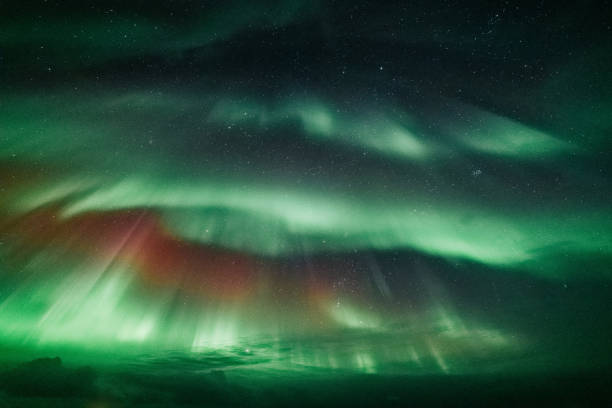Northern lights in Iceland stock photo