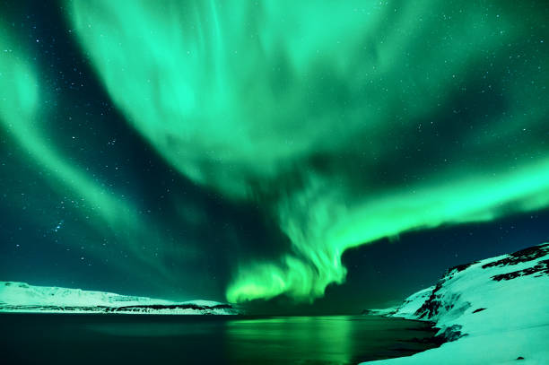 Northern lights in Isceand stock photo