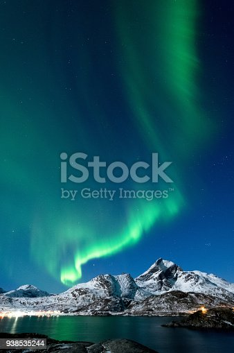 Northern Lights In Lofoten Islands Norway Stock Photo & More Pictures of Astronomy