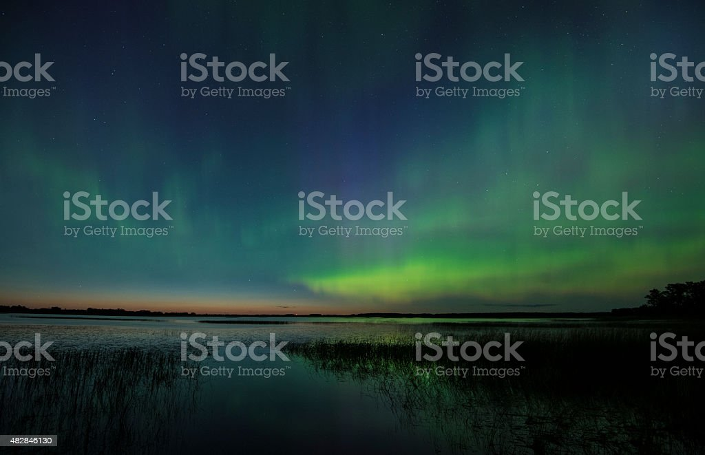 Northern Lights in Summer stock photo