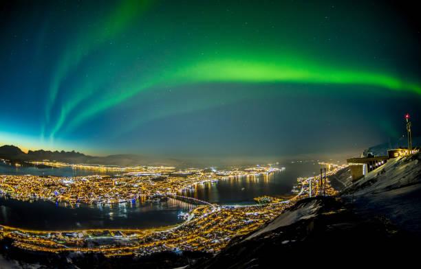 Northern Lights in Tromsø stock photo