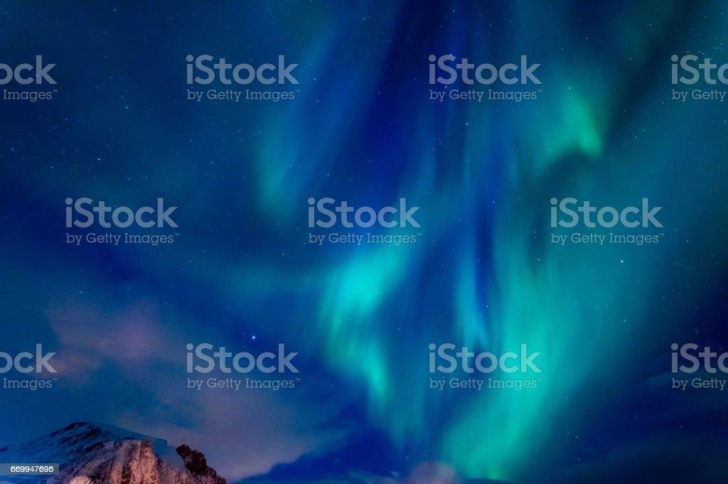 Northern Lights of Lofoten stok fotoğrafı