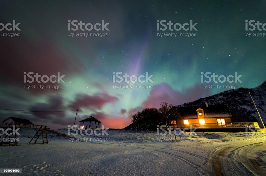 Northern Lights of Norway stok fotoğrafı