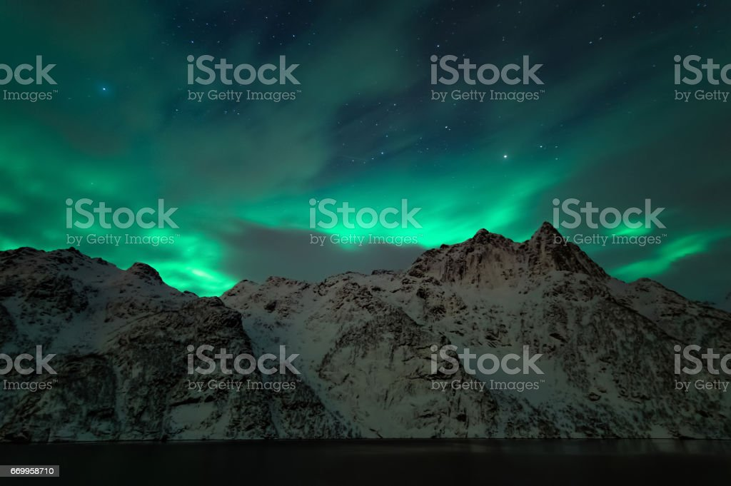 Northern Lights of Norway royalty-free stock photo