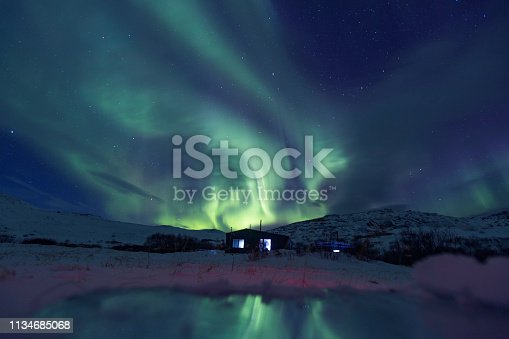 istock Northern lights on the Kola Peninsula 1134685068