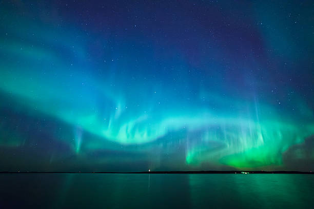Northern lights auf See in Finnland – Foto
