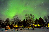 An aurora is a natural light display in the sky, predominantly seen in the high latitude Arctic and Antarctic regions.