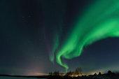 Russia, Murmansk region - aurora borealis (polar lights)