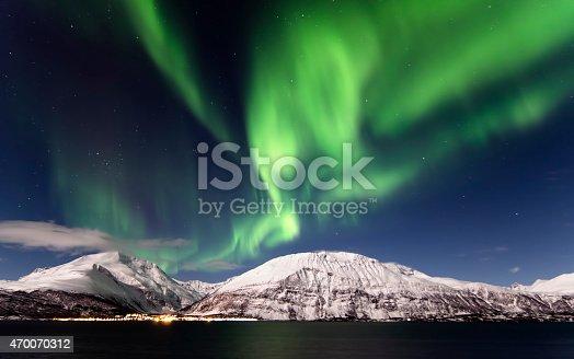 Northern Lights in Lyngen, Northern Norway