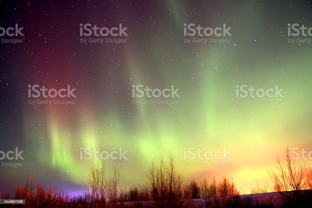 Northern lights stock photo