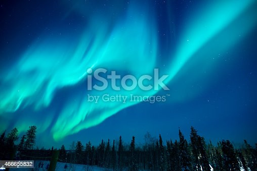 istock Northern lights stream across the arctic sky near Yellowknife 466655832