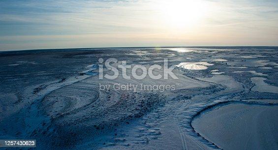 The frozen winter landscape of Northern Manitoba, near Churchill