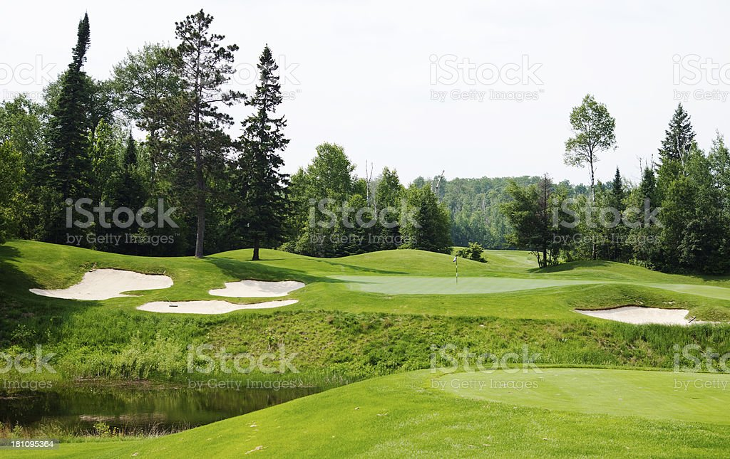 Northern Minnesota Golf Course royalty-free stock photo