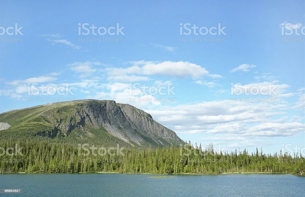 Northern mountains. royalty-free stock photo