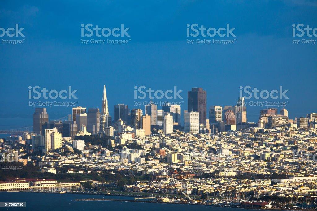 Northern Neighborhoods overview in San Francisco stock photo