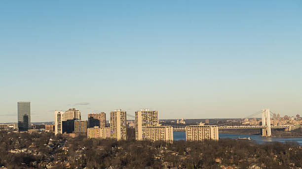 Northern New Jersey View from Cliffside Park stock photo