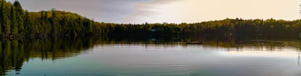 Northern Ontario panoramic photo stock photo