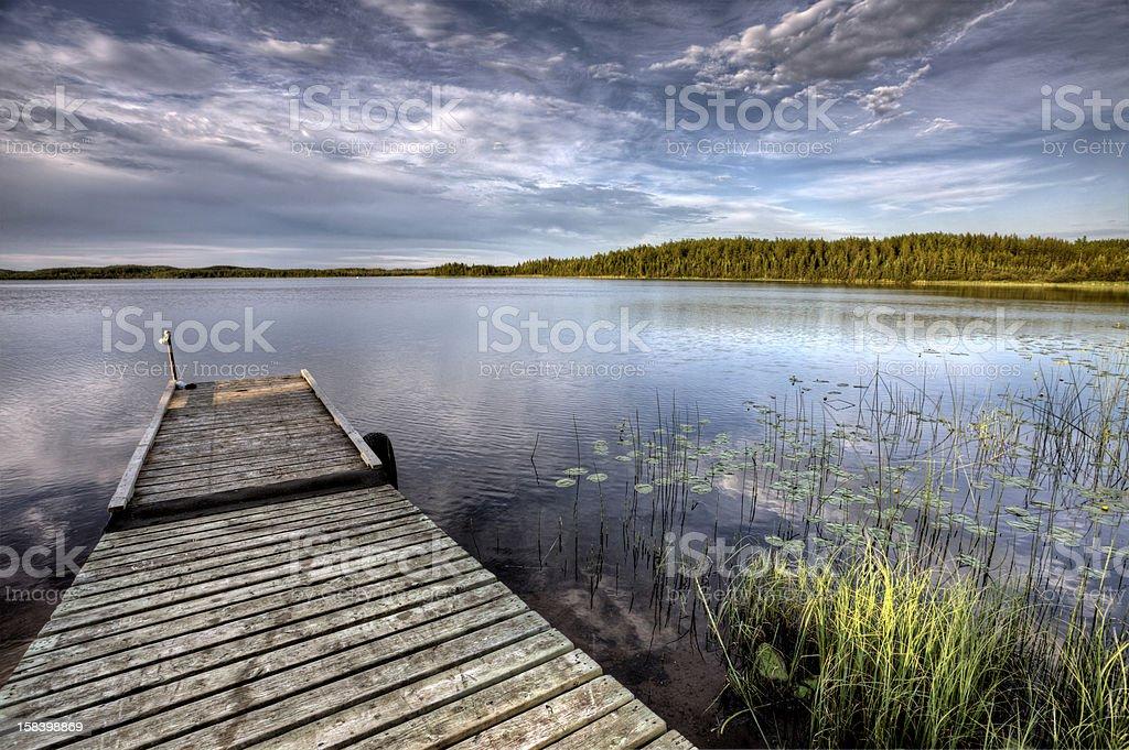 Northern Saskatchewan Lake stock photo