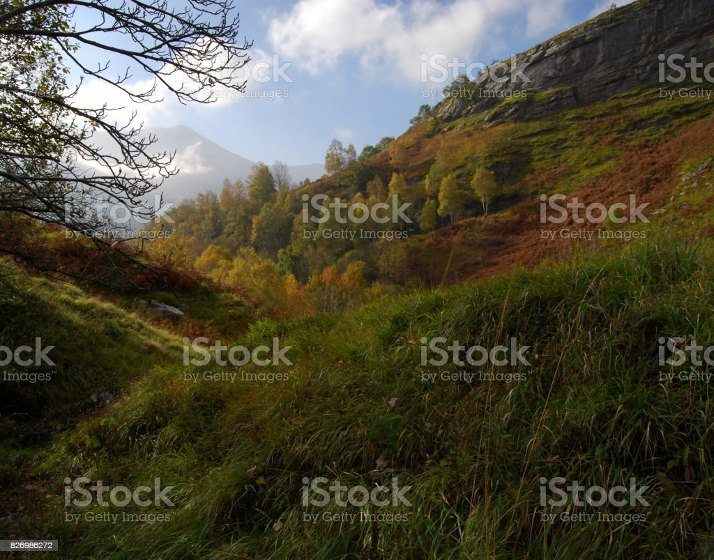 Northern Side of the Pyrenees Mountains. stock photo