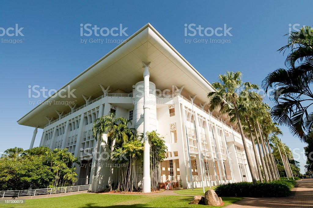 Northern Territories Parliament House stock photo