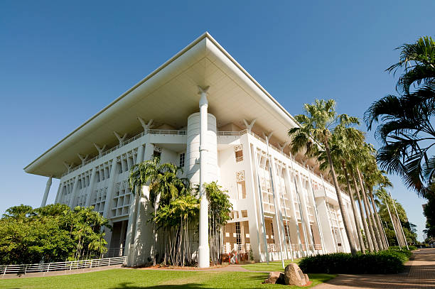 northern territories parliament house - darwin stock photos and pictures