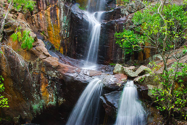 northern territory australia waterfall - darwin stock photos and pictures
