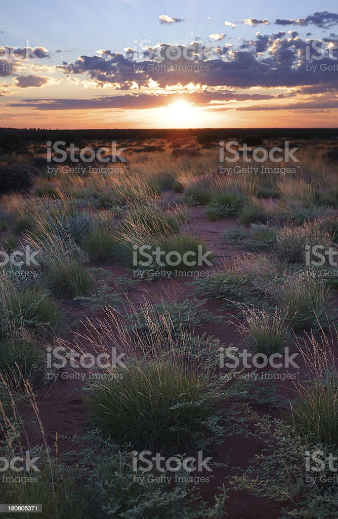 Northern Territory Dawn stock photo