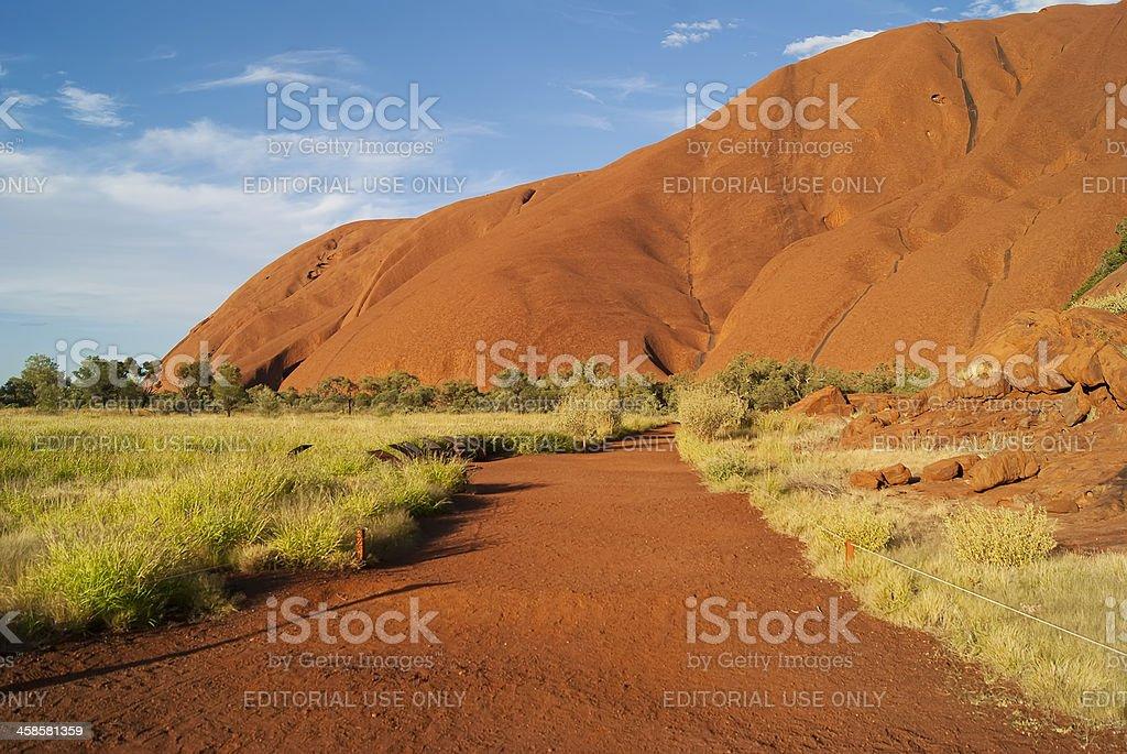 Northern Territory - Road to Uluru (Ayers Rock) royalty-free stock photo