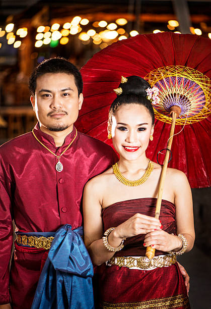 Northern Thai Young Couple stock photo