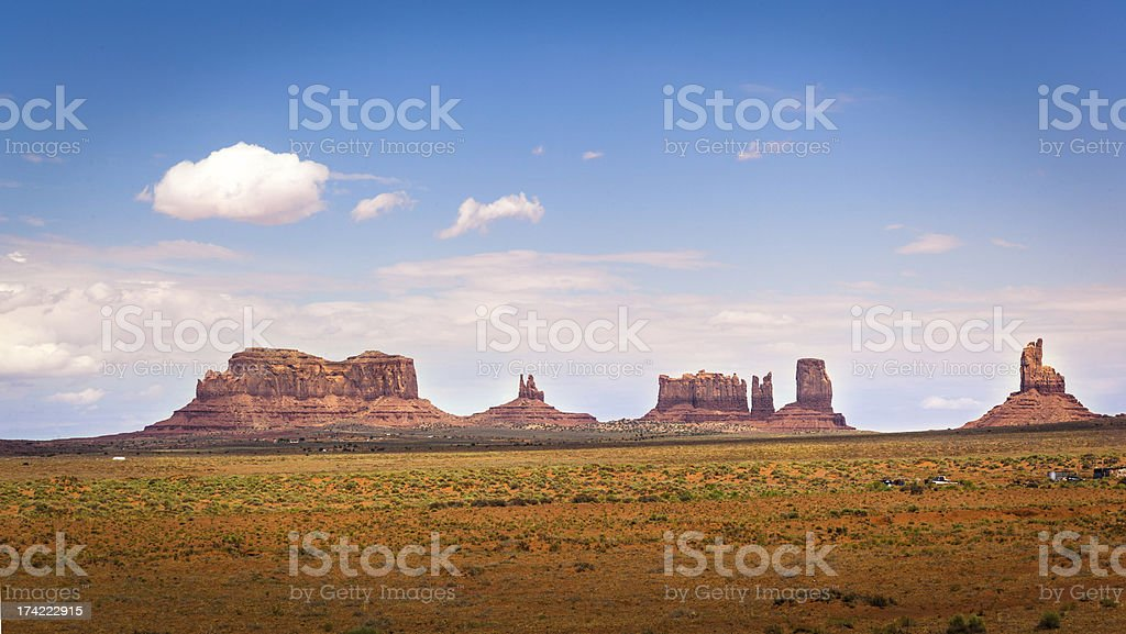 Northern View of Monument Valley stock photo