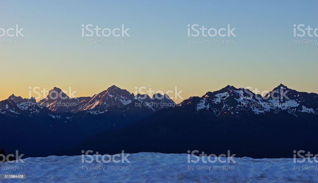 Northern Washington Dusk stock photo