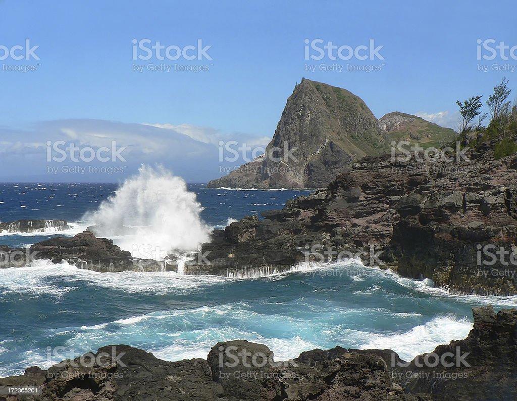 Northern West Maui Coast royalty-free stock photo