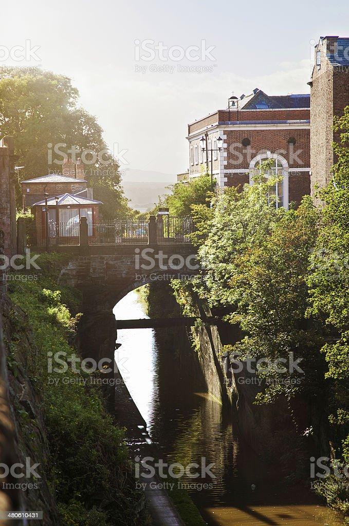 Northgate bridge over Shropshire union Canal Chester UK stock photo