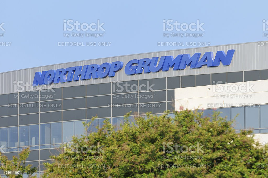 Northrop Grumman sign with copy space stock photo