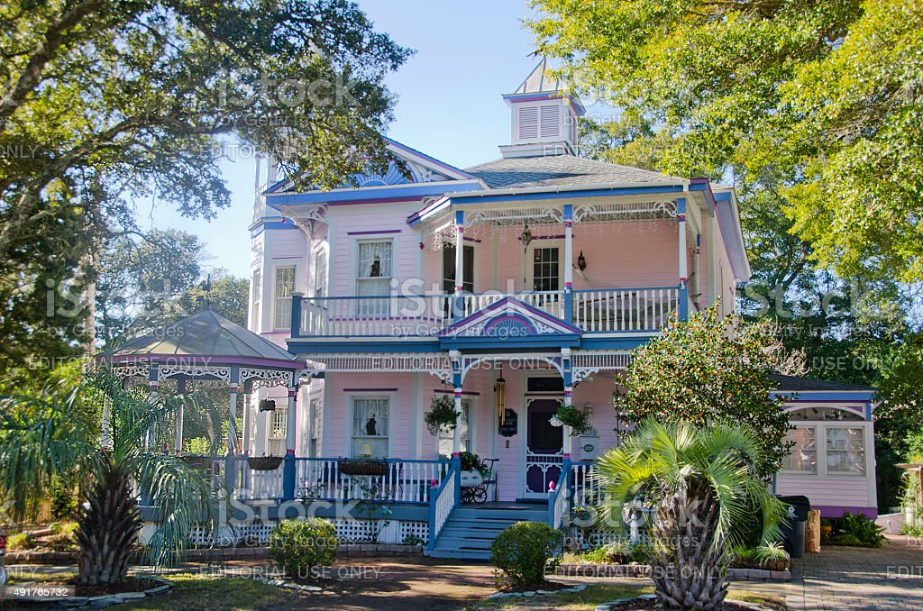 Northrop House in Southport, North Carolina stock photo
