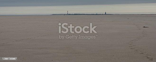 istock Northsea island Wangerooge at the horizon 1288735987
